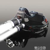 頭燈 LED五頭燈強光充電式感應夜釣魚燈遠射手電筒超亮頭戴式多功能 青山市集