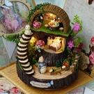 音樂盒天空之城diy手工木質旋轉八音盒房子生日禮物送女 『洛小仙女鞋』