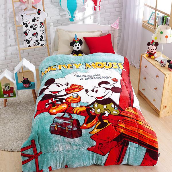 毯子 / 毛毯【工地米奇】法蘭大毛毯  正版授權  戀家小舖AFC200