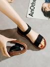 涼鞋女平底鞋2021年新款百搭軟底孕婦舒適簡約魔術貼學生夏季女鞋 黛尼時尚精品