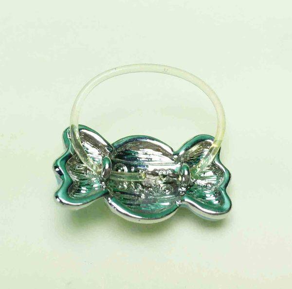【震撼精品百貨】Hello Kitty 凱蒂貓~造型戒指-藍蝴蝶結