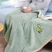 小毛毯被子珊瑚絨蓋腿毯子辦公室午睡毯單人兒童加厚膝蓋毯防靜電第一個