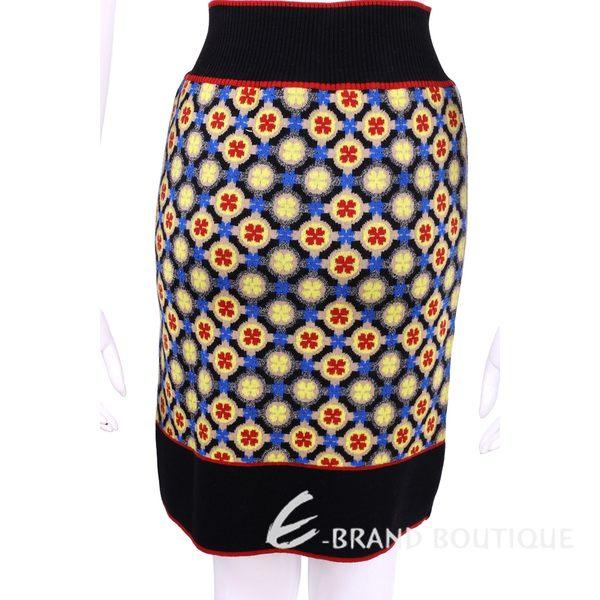 PHILOSOPHY 黑色幾何印花針織及膝裙 1540133-01