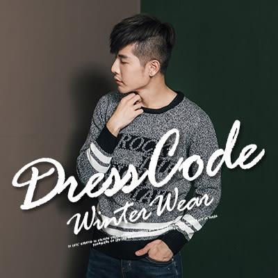 『 One Boy 』【N20253】型男新主張花紋美式休閒羅紋針織衫