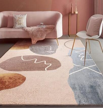 地毯 北歐風簡約地毯臥室客廳輕奢少女房間茶幾床邊沙發地墊大面積家用【快速出貨八折搶購】
