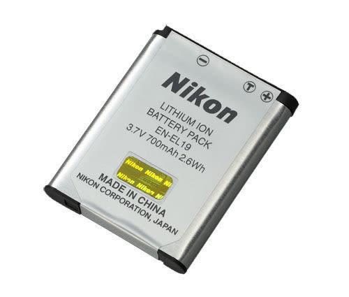 【福笙】Nikon EN-EL19 EN-EL19 原廠鋰電池 適用W100 A100 S33 S100 S2900 S3700 S4300 S6600 S7000