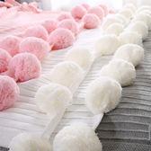 空調毯 針織球球毯子 北歐純棉毛毯夏季空調毯裝飾毯蓋毯單人線毯 夢藝家