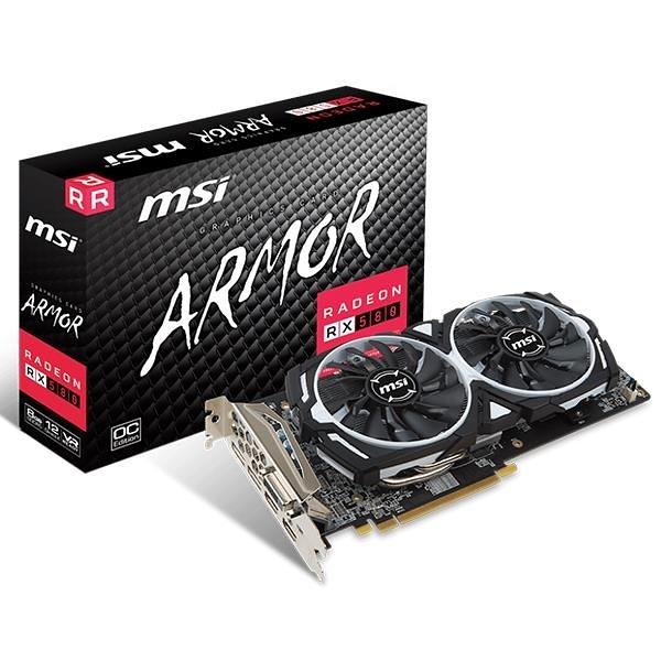 微星MSI RX580 ARMOR 8G OC PCI-E顯示卡