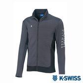 K-Swiss Jersey Jacket韓版運動外套-男-灰