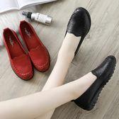 皮鞋媽媽鞋軟底舒適單鞋秋季中老年人女鞋奶奶防滑平底中年老人皮鞋冬多莉絲旗艦店
