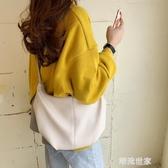 韓國春夏新款復古極簡褶皺餃子包ins女包潮百搭單肩包斜跨牛角包『潮流世家』