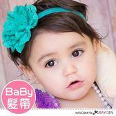 歐美時尚寶寶鏤空洞洞立體花朵髮帶 髮箍