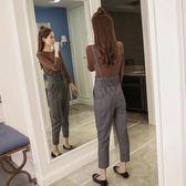 休閒背帶褲女春秋季正韓寬鬆兩件式裝復古哈倫九分連體褲 優樂居
