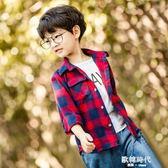 童裝 男童格子加絨襯衫2-7周歲中小兒童寶寶休閒格子襯衣 歐韓時代