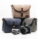限定款攝影背包 復古防潑水相機包攝影包單...