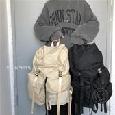 大容量休閑後背包雙肩包男日韓版百搭電腦包旅行包女【小酒窩服飾】
