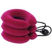 24小時現貨——三層全絨三管充氣家用脖子牽引拉伸頸托護頸部按摩 小時光生館