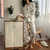【熊貓】百搭草莓印花睡衣睡褲寬鬆顯瘦休閒居家服