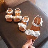 新款1-2-3歲女童寶寶涼鞋軟底防滑嬰兒學步鞋小孩蝴蝶結公主鞋夏夢想巴士