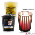 YANKEE CANDLE 香氛蠟燭-仲夏之夜+陽光下綻放的花朵(49g)X2+祈禱燭杯【美麗購】