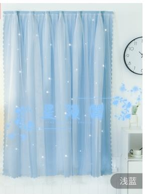窗簾 窗簾免打孔安裝全遮光臥室宿舍學生出租房簡約現代伸縮桿小短簾布
