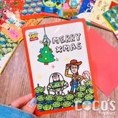 正版 迪士尼 玩具總動員 巴斯胡迪三眼怪 聖誕節卡片 耶誕卡片 大卡片 附信封 C款 COCOS XX001