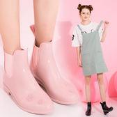 低筒雨鞋雨靴雨靴女防滑短筒正韓時尚平底可愛雨靴女士水鞋成人台秋節88折