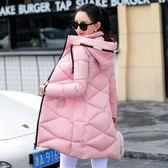 冬裝新款冬季可愛外套女羽絨棉服棉衣女中長款加厚保暖修身棉襖潮