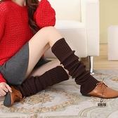 過膝襪堆堆毛線瑜伽襪套秋冬加厚美腿襪護腿長筒套女日系【愛物及屋】