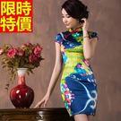 旗袍-真絲時尚性感修身改良式連身短裙68...