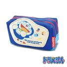 深藍款【日本進口】哆啦a夢 DORAEMON 帆布 雙層 化妝包 收納包 - 150564