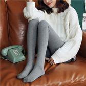 秋季灰色棉打底褲女外穿薄絨加厚連褲襪高腰彈力顯瘦百搭保暖衛生褲 9號潮人館