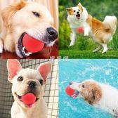 寵物狗狗玩具耐咬磨牙玩具彈力球大型犬幼犬訓練狗玩具橡膠實心球