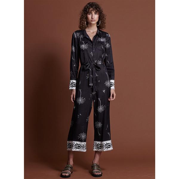 ONETEASPOON  W  THE VALLEY VALENTINE JUMPSUIT  連身褲-女(黑)