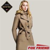 【FOX FRIEND 女 GORE-TEX兩件式羽絨風衣《深卡》】1961/保暖羽絨外套/防風外套/防水大衣