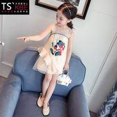 女童連身背心裙中國風旗袍裙