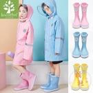 可愛兒童水鞋雨季塑膠雨鞋防水防滑【橘社小鎮】