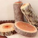 仿真惡搞創意木頭造型抱枕靠墊 年輪坐墊 ...