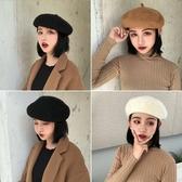 羊毛帽子女秋冬英倫貝雷帽韓版毛呢畫家日系甜美百搭蓓蕾帽八角帽