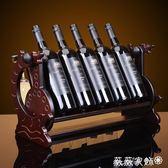 紅酒櫃 新款促銷木制酒架紅酒架創意歐式葡萄實木酒架酒杯架倒掛酒櫃擺件 igo薇薇家飾