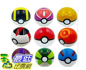 [美國直購] 寵物小精靈 9 Pieces Plastic Super Anime Figures Balls for Pokemon Kids Toys Balls B01IETG750_TA3