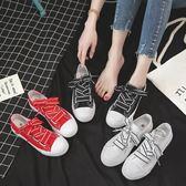 小白帆布鞋女夏季新款韓版百搭學生原宿風ulzzang平底板鞋子