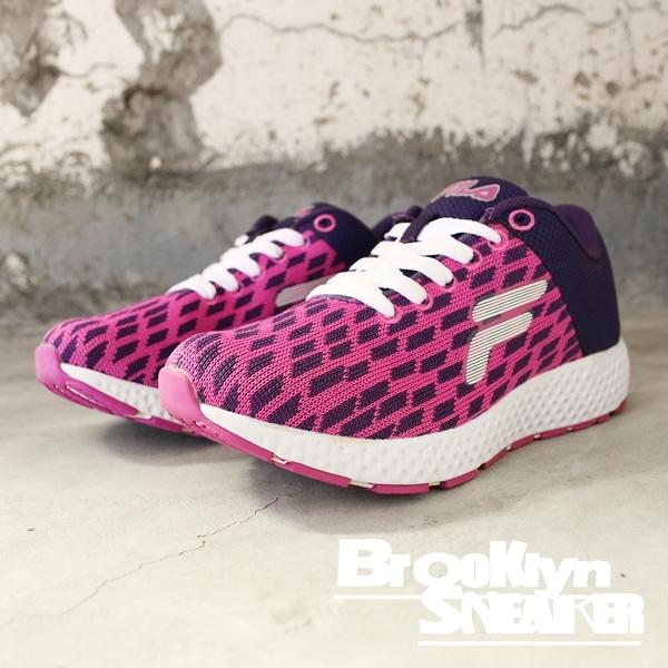 FILA 紫黑 方塊 透氣 休閒鞋 慢跑鞋 女 (布魯克林) 5J908Q991
