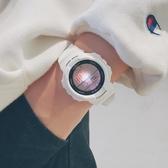 運動電子錶男女學生潮流ulzzang手錶韓版簡約時尚防水白  極有家