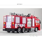 一鍵遙控噴水消防車玩具充電高速大號遙控車聲光男孩禮物模型 町目家