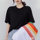 ins網紅純色超火短袖t恤女夏季新款韓版潮寬鬆百搭半袖上衣服 電購3C