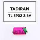 全館免運費【電池天地】TADIRAN 一次性鋰電池 TL-5902 3.6V 1/2AA  帶針腳 焊腳 正負極出PIN