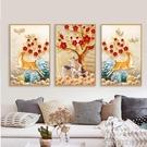 客廳裝飾畫現代簡約北歐麋鹿掛畫沙發背景牆三聯壁畫臥室牆畫鹿QM 依凡卡時尚