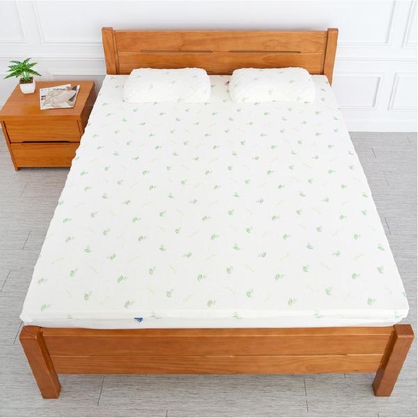 天然透氣5cm乳膠床墊(附枕)【5x6.2尺 雙人】