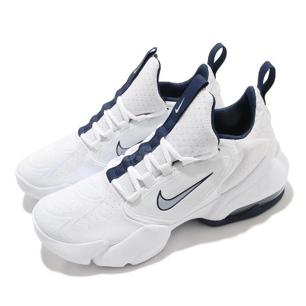 Nike 訓練鞋 Air Max Alpha Savage 白 深藍 氣墊 男鞋 多功能 運動鞋【ACS】 AT3378-104